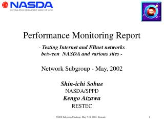 Performance Monitoring Report -  Testing Internet and EBnet networks