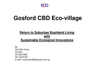 Gosford CBD Eco-village
