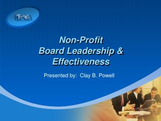 Non-Profit Board Leadership  Effectiveness