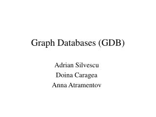 Graph Databases GDB