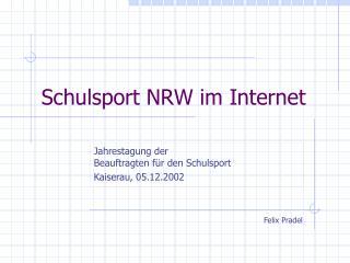 Schulsport NRW im Internet