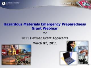 Hazardous Materials Emergency Preparedness Grant Webinar