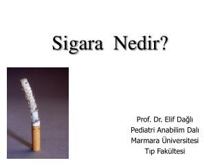 Sigara  Nedir?