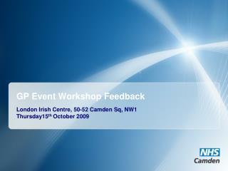 GP Event Workshop Feedback