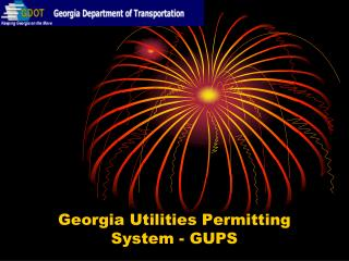 Georgia Utilities Permitting System - GUPS