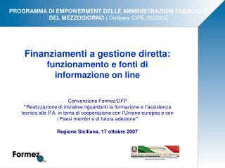 Finanziamenti a gestione diretta:  funzionamento e fonti di informazione on line