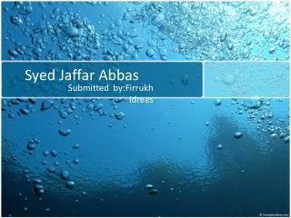Syed Jaffar Abbas