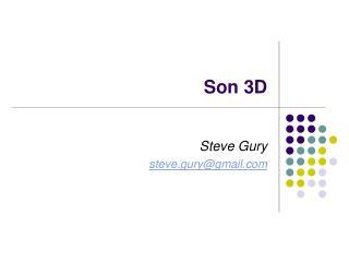 Son 3D