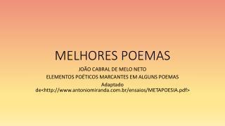 MELHORES POEMAS
