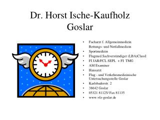 Dr. Horst Ische-Kaufholz Goslar