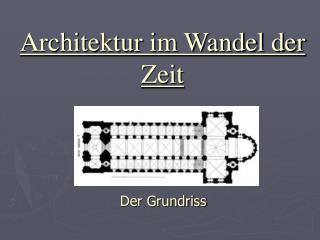 Architektur im Wandel der Zeit