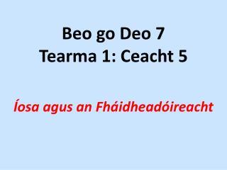 Beo go Deo 7 Tearma 1: Ceacht 5