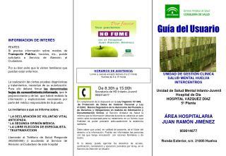 Guía del Usuario UNIDAD DE GESTIÓN CLÍNICA  SALUD MENTAL HUELVA INTERCENTROS