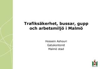Trafiksäkerhet, bussar, gupp och arbetsmiljö i Malmö