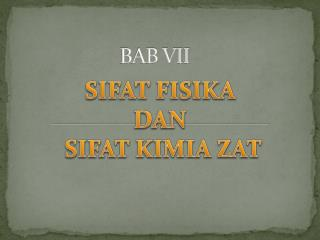 BAB VII