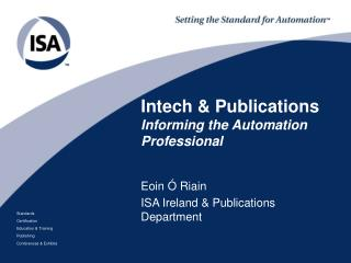 Intech & Publications Informing the Automation Professional