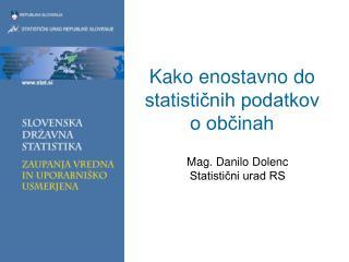 Kako enostavno do statističnih podatkov o občinah