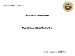 Laboratorio di chimica organica: