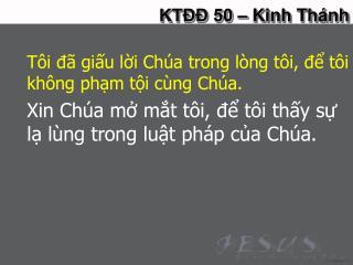 KTĐĐ 50 – Kinh Thánh