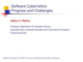 Software Cybernetics: