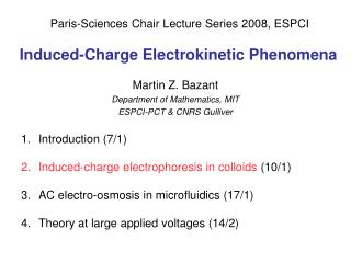 Induced-Charge Electrokinetic Phenomena