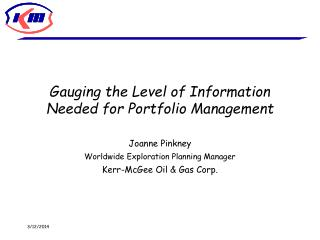 Gauging the Level of Information Needed for Portfolio Management