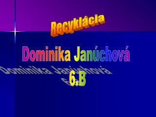 Dominika Janúchová  6.B