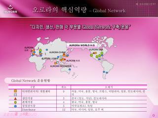 오로라의 핵심역량  –  Global Network