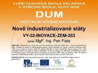 Nově industrializované státy