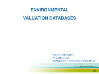 ENVIRONMENTAL VALUATION DATABASES