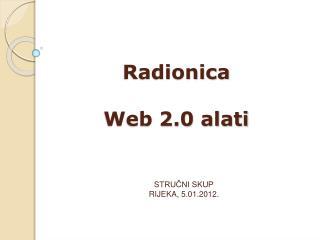 Radionica Web 2.0 alati