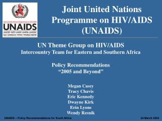 Joint United Nations Programme on HIV/AIDS (UNAIDS)