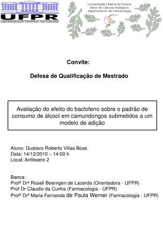 Convite:  Defesa de Qualificação de Mestrado