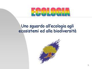 Uno sguardo all'ecologia agli ecosistemi ed alla biodiversità
