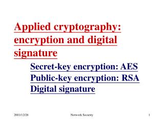 Secret-key encryption: AES Model Terminology AES