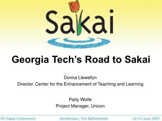 Georgia Tech's Road to Sakai