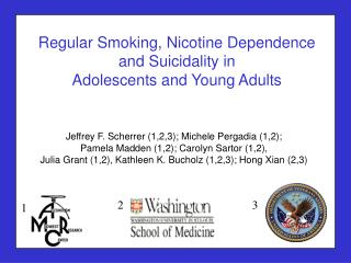 Regular Smoking, Nicotine Dependence and Suicidality in  Adolescents and Young Adults