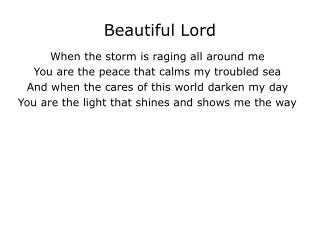 Beautiful Lord