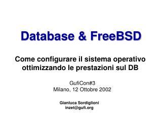 Database & FreeBSD