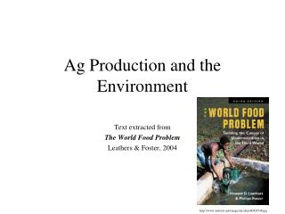 Ag Production and the Environment
