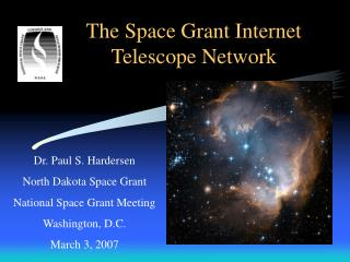 The Space Grant Internet Telescope Network