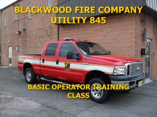 BLACKWOOD FIRE COMPANY UTILITY 845