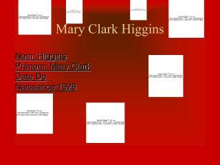 Mary Clark Higgins