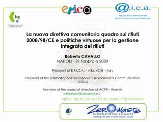 La nuova direttiva comunitaria quadro sui rifiuti