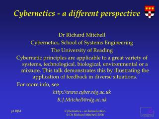 Cybernetics - a different perspective