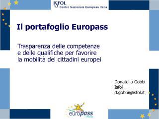 Il portafoglio Europass