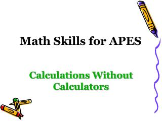 Math Skills for APES