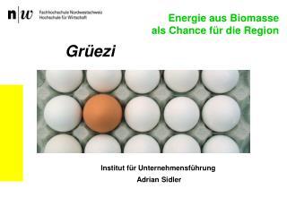 Institut für Unternehmensführung  Adrian Sidler