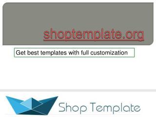 shop template