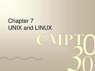 Chapter 7 UNIX and LINUX